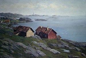 Betzy Akersloot-Berg - Image: Kustlandschap Noorwegen Betzy Rezora Berg (1850 1922)