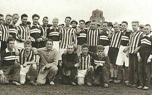 FC Kuusysi - Maila-Pojat and Heinolan Isku join together in a photo in 1935.