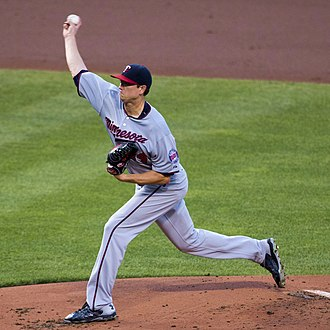 Kyle Gibson - Gibson pitching for the Minnesota Twins in 2015