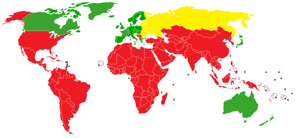 Kyoto Protocol Commitment map 2010
