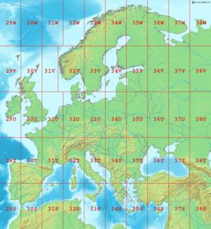 Carte Europe Avec Meridiens.Transverse Universelle De Mercator Wikipedia