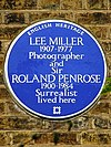 LEE MILLER 1907-1977 Photographer and Sir ROLAND PENROSE 1900-1984 Surrealist lived here.jpg