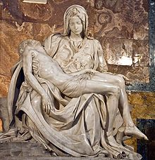 Michelangelo's sculpture of Mary holding the dead Jesus