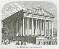 La Madeleine; vue extérieure, 1855.jpg