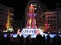 La fontaine des Jacobins pendant la fête des lumières 2010 à Lyon (2ème arrondissement).JPG
