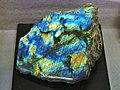 Labradorite displayed at Mining Museum of Akita University.jpg