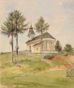 Sinja Gorica - Painting by Ladislav Benesch, 1883