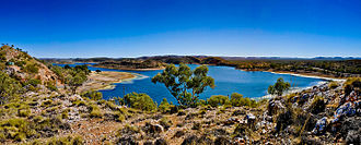 Lake Moondarra - Image: Lake Moondarra Panorama