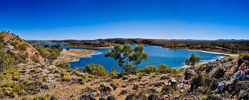 File:Lake Moondarra Panorama.jpg
