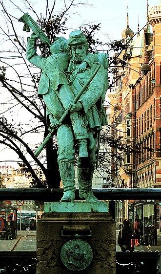 Hans Peder Pedersen-Dan - Image: Landsoldaten med den lille hornblæser