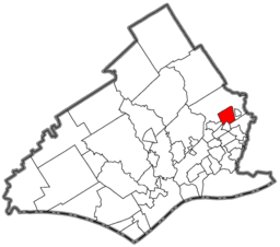 Location of Lansdowne in Delaware County