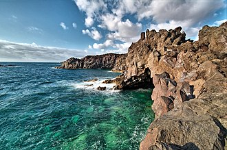 Rocky shore - Rocky shore in Lanzarote, Spain