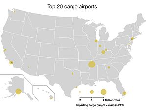 List Of The Busiest Airports In The United States Wikipedia - Airport map of northeast coast of us
