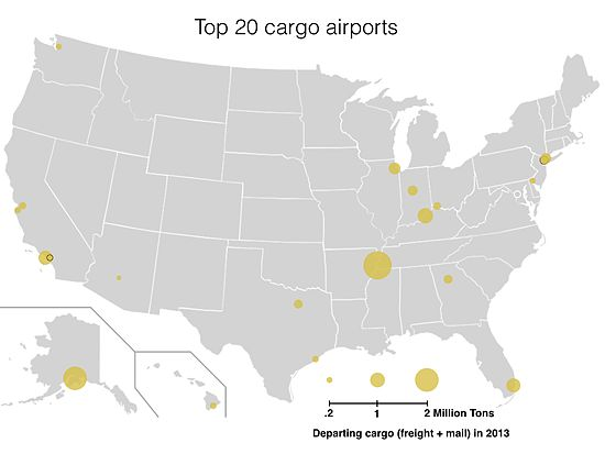 List of largest cargo airports in the United States Wikipedia