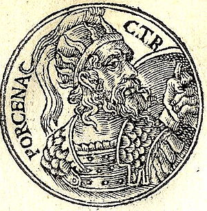 Lars Porsena - Lars Porsena from the Promptuarii Iconum Insigniorum.