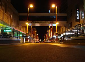Collins Street, Hobart - Collins Street at night