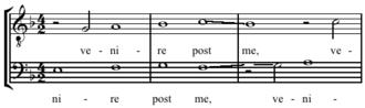 Rest (music) - Image: Lassus Qui vult venire post me, mm 3 5