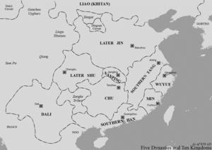 Southern Tang - Southern Tang in 939 AD
