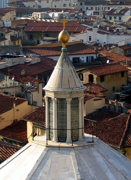 The lantern over the dome of the Florence Baptistery, dated to 1150[1]