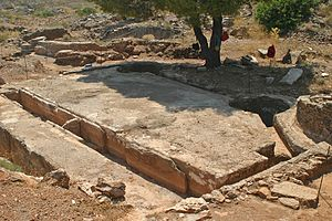 Laurium - Washing table at the mines of Laurion