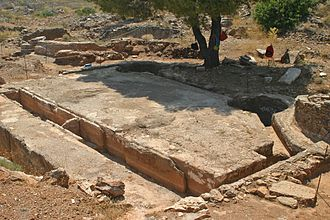 Themistocles - A sluicing tank for silver ore, excavated at Laurium, Attica