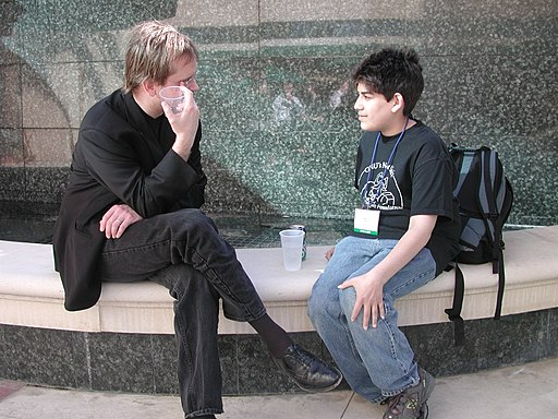 Lawrence Lessig and Aaron Swartz