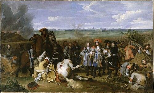 帰属戦争におけるルイ14世。シャルル・ルブラン画、1667年。