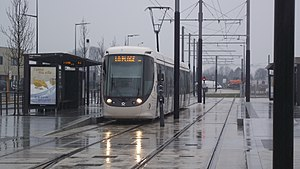 Le Havre tramway - Tramway at the Grand Hameau station