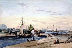 Lachine Canal - View of the canal in 1850