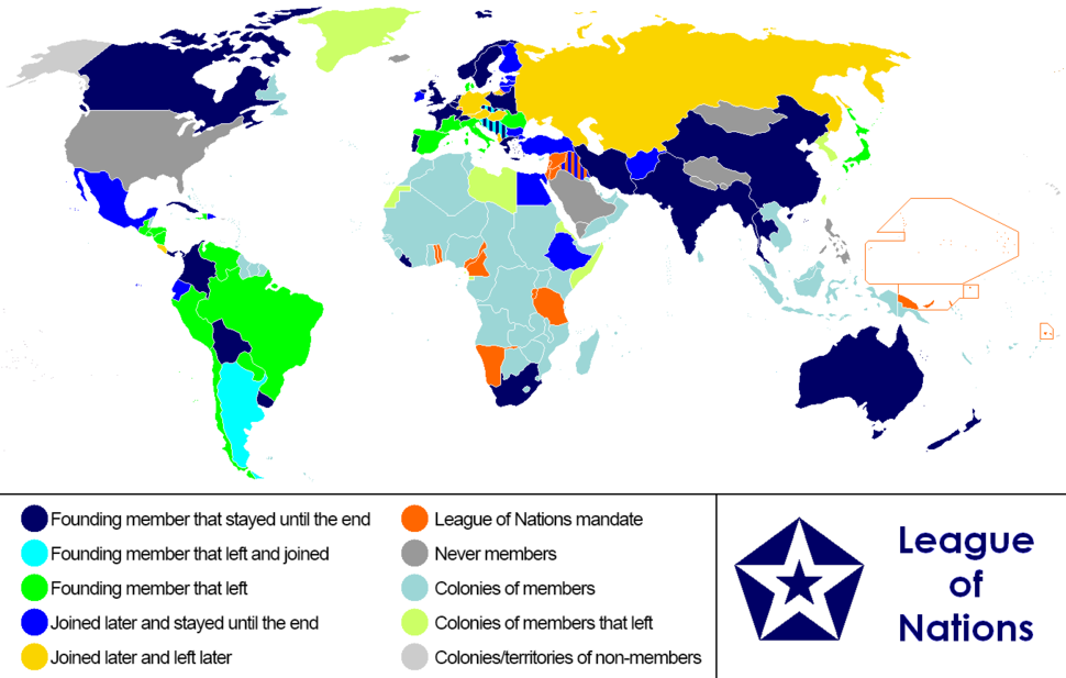 League of Nations Anachronous Map