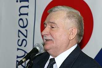 Jan Olszewski - President Lech Wałęsa's (seen in 2002) strained relationship with Olszewski led both men to accuse the other of possible coup plots.