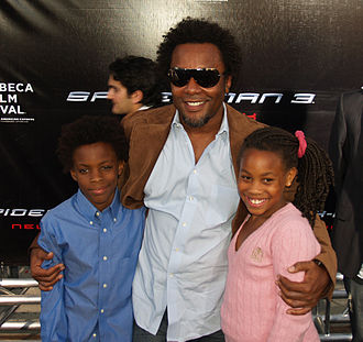 Lee Daniels - Daniels with his son and daughter at the 2007 world premiere of Spider-Man 3.