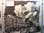 Leipzig, Brand des Hôtel de Pologne 1846 (DFM).JPG