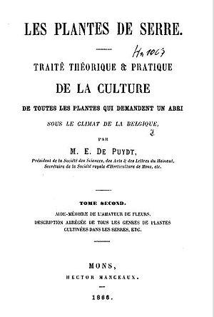 Paul Émile de Puydt - Image: Les Plantes de Serre