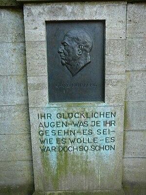 Carl Duisberg - Carl Duisberg memorial plate, Floratempel Leverkusen