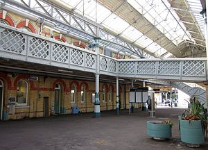 Lewes railway station - The gallery overlooking the main courtyard
