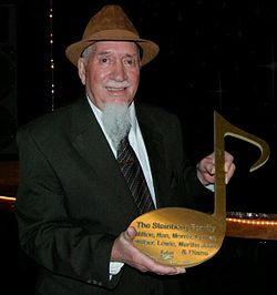 Lewie Steinberg accepting Brass Note on Beale Street's Walk of Fame.jpg