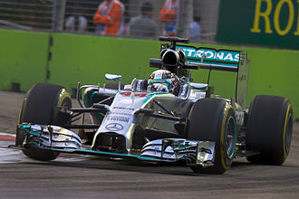2014 Singapore Grand Prix - Lewis Hamilton took his sixth pole position of the season and the 37th of his career.