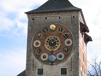 Zimmer tower - Detail view of the Jubilee clock