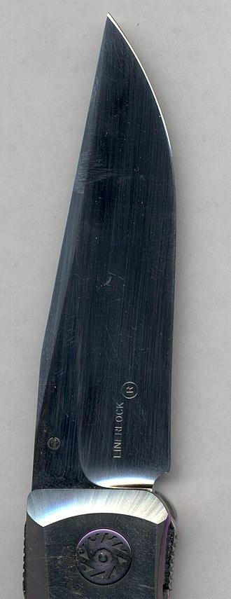 Michael Walker (knifemaker) - Closeup image of Linerlock (TM)