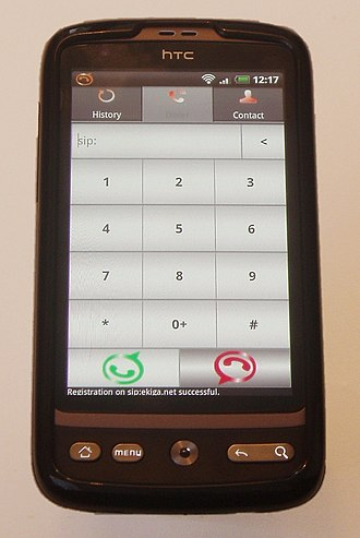 Linphone - Linphone running on HTC Desire
