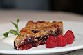 Linzer Torte with raspberries, March 2011.jpg