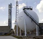 Liquid Oxygen (LOX) ball at the CCAFS SLC-40.jpg