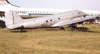 Lisunov Li-2 - Lisunov Li-2 of Aeroflot at Monino near Moscow in 1994