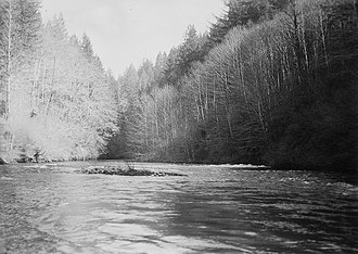 Little Sandy River (Oregon) - The Little Sandy River in March 1940