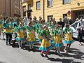 Little samba girls from Império do Papagaio at Kallio Kukkii 2015.jpg