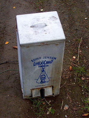 Smoked fish - Modern home smokers are often in the form of metal boxes