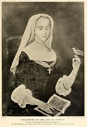 Elisabeth of the Palatinate - Elisabeth at age 12.