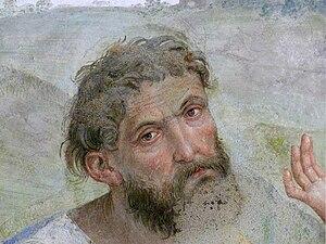 """Lo Spagna - Fresco """"Transporto di Cristo al sepolcro"""", Trevi, Chiesa della Madonna delle Lacrime, Cappella di S. Francesco – detail"""