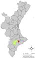 Localització de Penàguila respecte el País Valencià.png